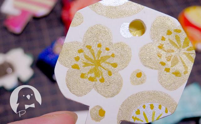 タミヤのアクリル塗料のゴールドリーフ