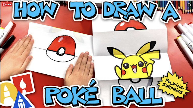 Lesson about how to draw a poke ball