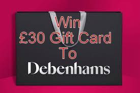 Giveaway Debenhams Gift Card