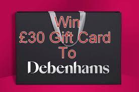 Giveaway Debenhams Gift Card