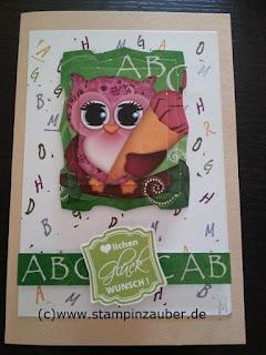 Glückwunschkarte zur Schuleinführung Handmade Silvi Provolija Unabh. Stampin' Up! Demonstratorin Jena Thüringen