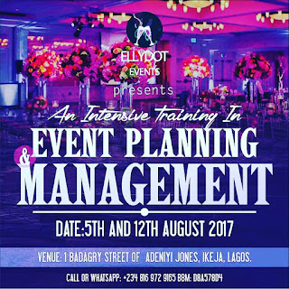 Events management training in August 2017 (Lagos)