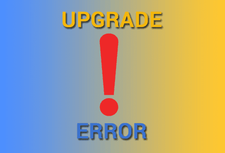 adsense upgrade error