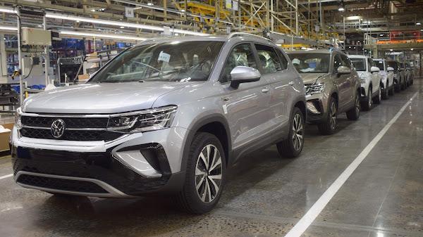 Volkswagen Taos: fotos do SUV na linha de montagem na Argentina