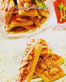 Resep Kue - Slice Almond Strawberry