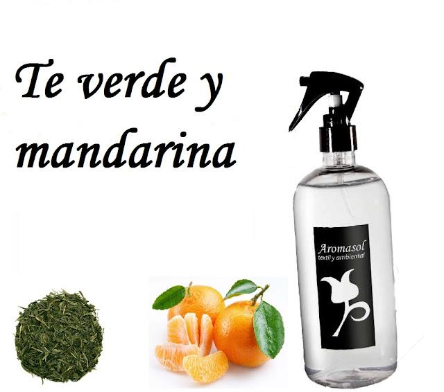 Perfume para la ropa Te verde y mandarina