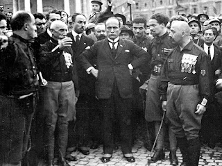 Balbo (second right), with Mussolini and other Blackshirt leaders of the March on Rome in 1922