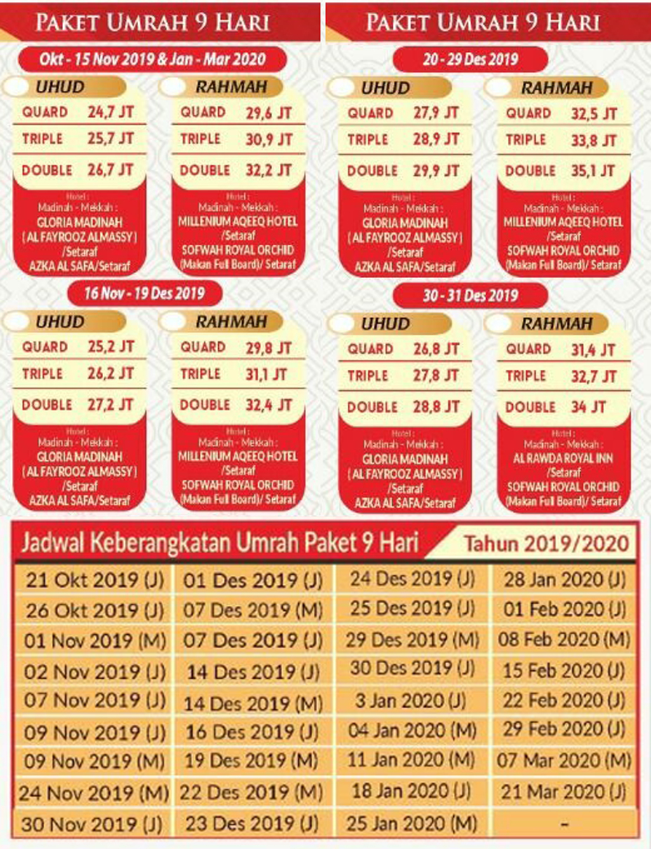 travel umroh alhijaz indowisata jadwal 2019