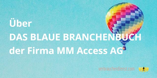 """Beitrag: Über """"Das Blaue Branchenbuch"""" der MM Access AG"""