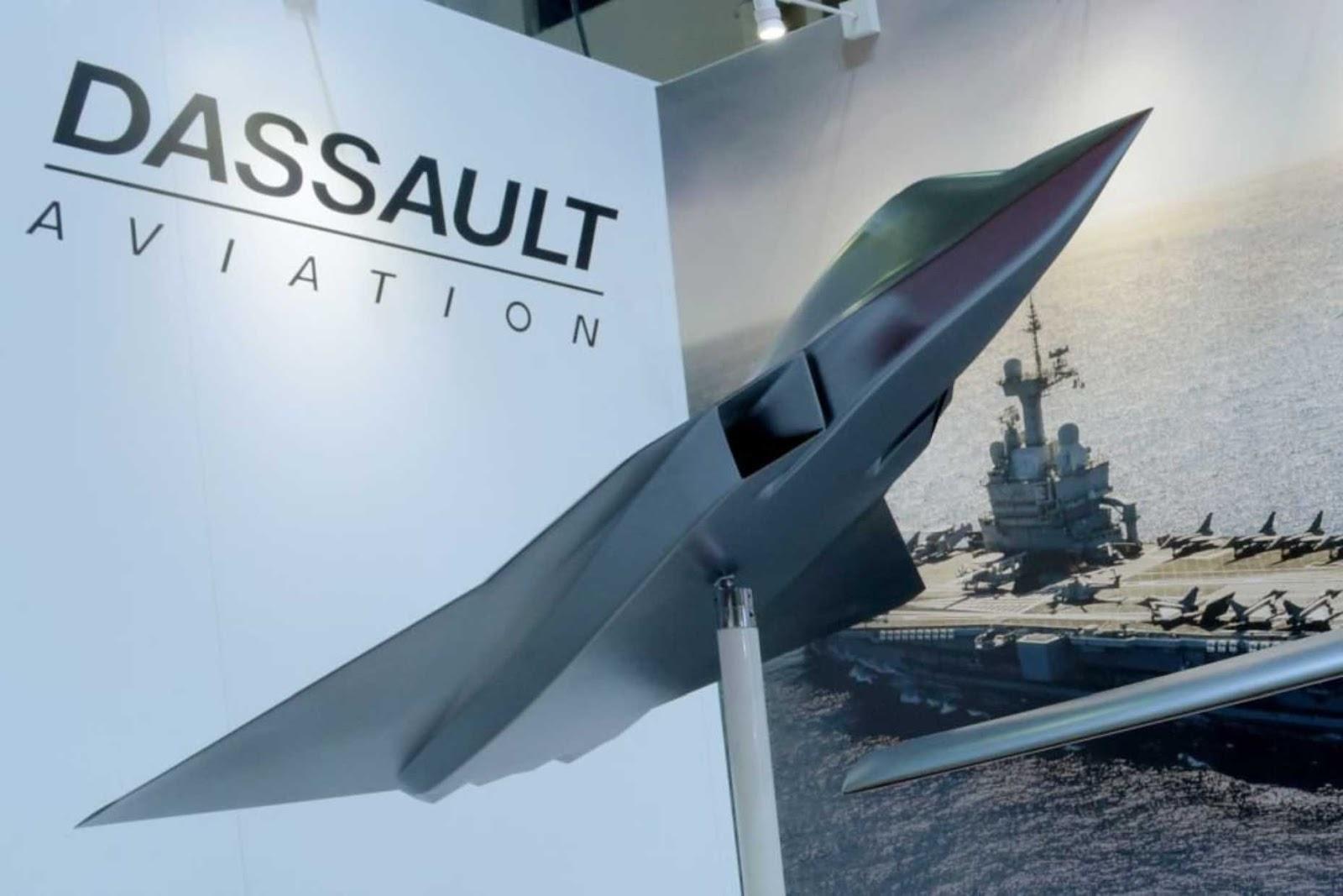 Perancis menunjukkan model pesawat tempur generasi baru