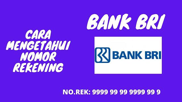 Cek nomor rekening bank bri