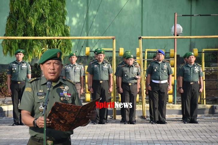 Kasrem 141/Tp, Pimpinan Upacara Bendera Minggu Pertama  Bulan 12- 2019 di Makorem 141/Tp