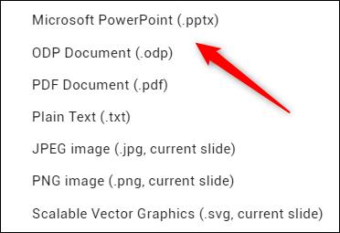 خيار تحويل Microsoft PowerPoint