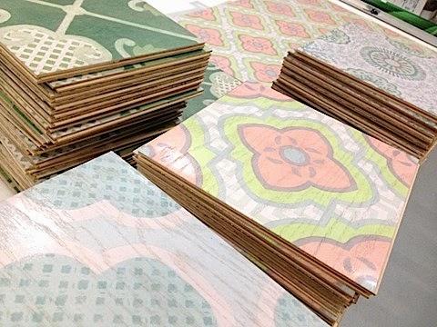 Celerie Kemble for Mirth Studio wood floor tiles