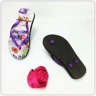 Sandal Jepit AMX Motif-Bunga Anak sandal murah