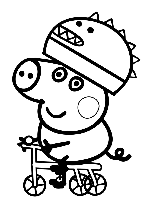 Desenho Para Colorir Da Peppa Pig