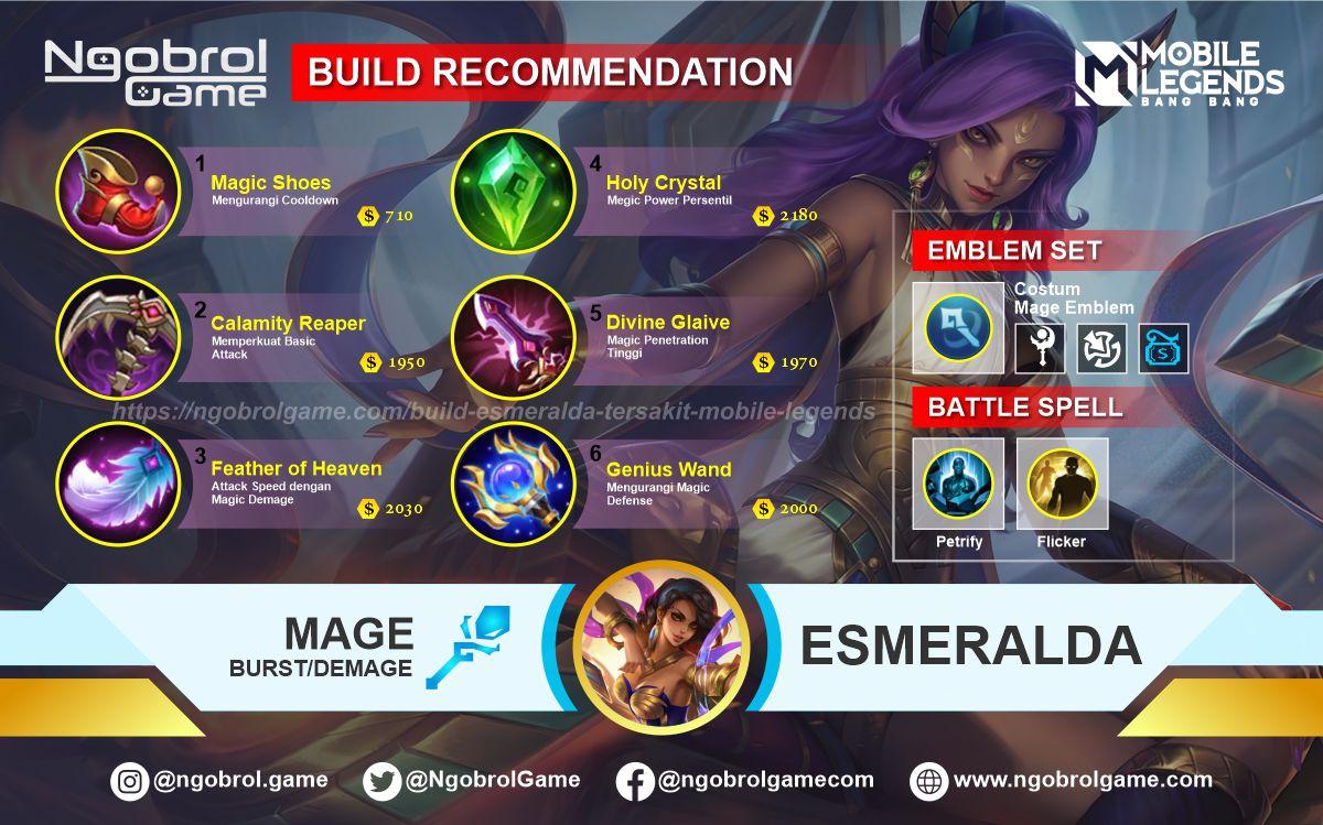 Build Esmeralda Top Global Tersakit Mobile Legends