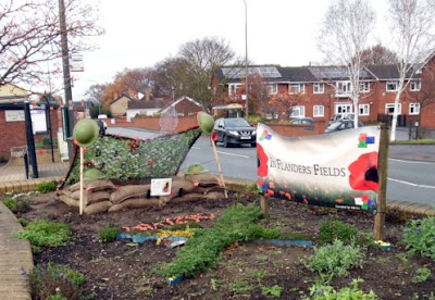 Picture: Flanders Fields: Brigg rPicture: Flanders Field is how rigg remembers The Fallen on World War One with his display beside the A18 - see Nigel Fisher's Brigg Blog