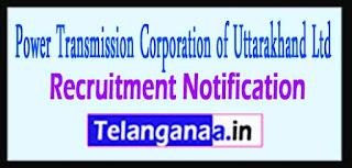 PTCUL Power Transmission Corporation of Uttarakhand Ltd Recruitment Notification 2017 Last Date 06-05-2017