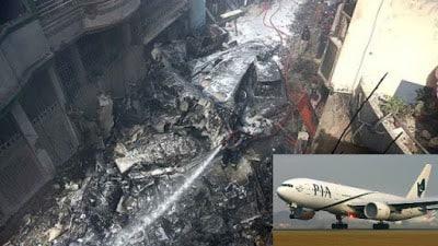 PIA Plane Crashes Near Karachi Airport