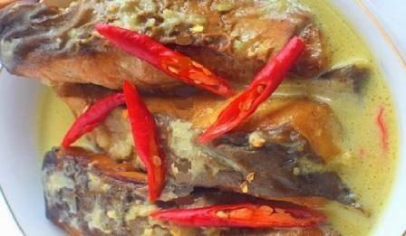 ikan cucut salai masak santan