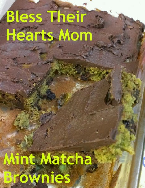 mint matcha brownies