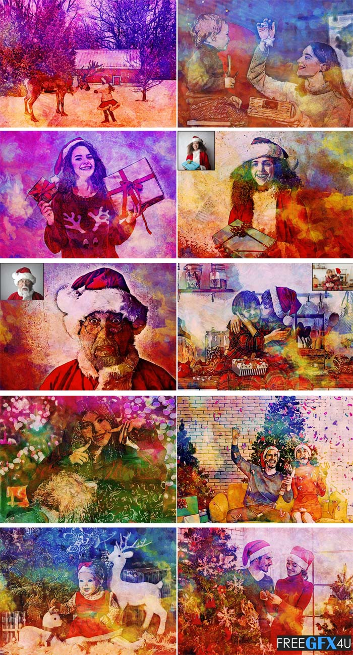 Christmas Painting Photoshop Action