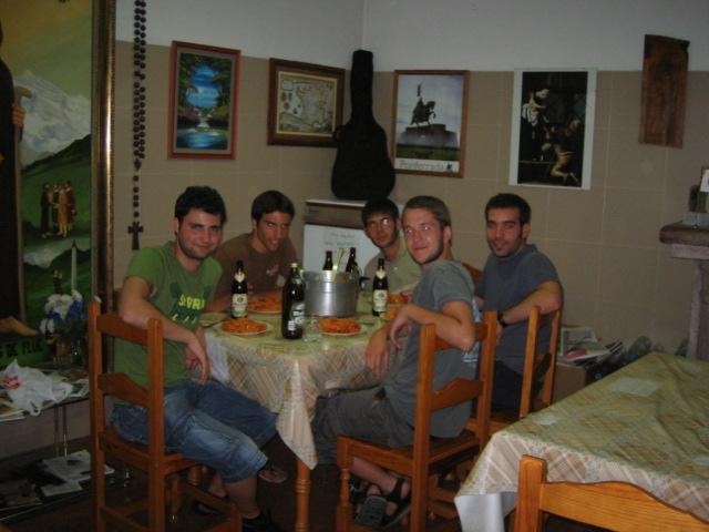 Cenando en el camino de Santiago