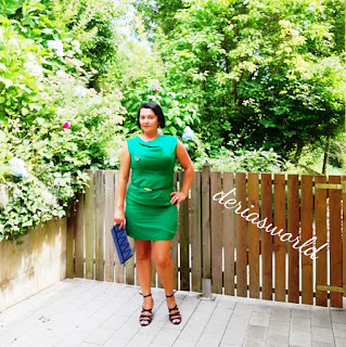green dress-mini dress-prom dress