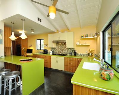 ideias de cozinhas verdes