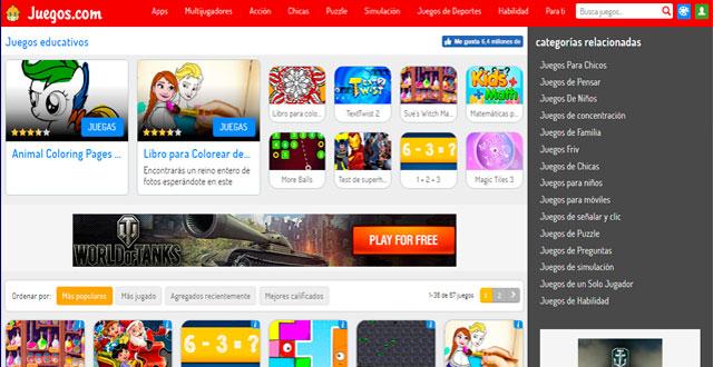 Aprende matemática básica online con juegos.com