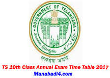 TS 10th Class Exam Time Table 2017 Download PDF, Telangana 10th class public exam time table 2017 announced by Telangana BSE Board at official website, TS SSC Annual Exam Time Table 2017 and dates sheet available in this website