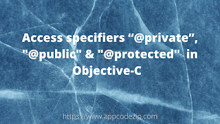 Access specifiers in Objective-C