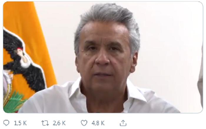 Moreno emitió un mensaje en medios y redes para defender sus recientes medidas económicas / TWITTER