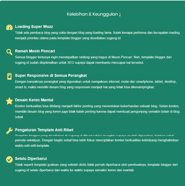 Template Blogger Terbaik Dan Terpopuler Dari Mas Sugeng