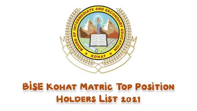 BISE Kohat Result 2021 Matric Top Position Holders List