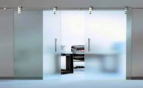 Elegant Sliding Glass Door for Office