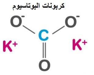 بنية كربونات البوتاسيوم
