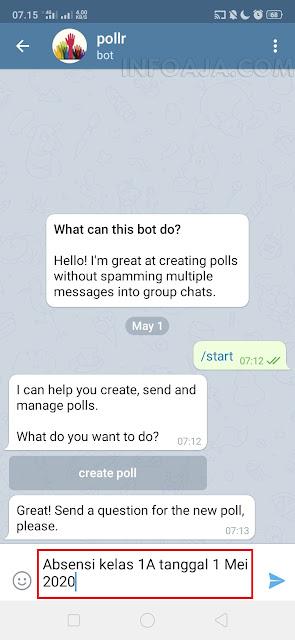 absensi di aplikasi telegram