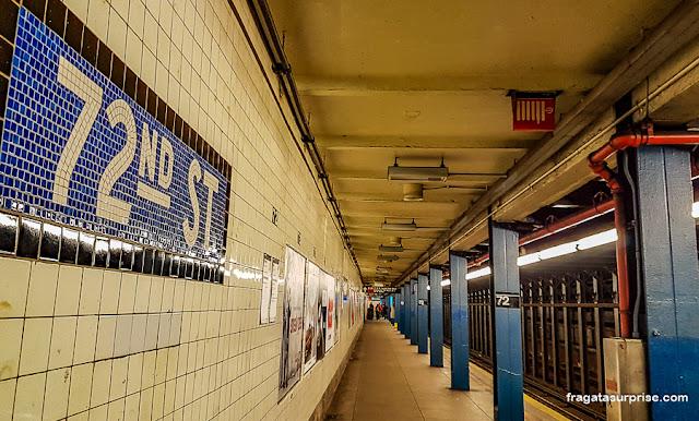 Estação de metrô no Central Park, Nova York