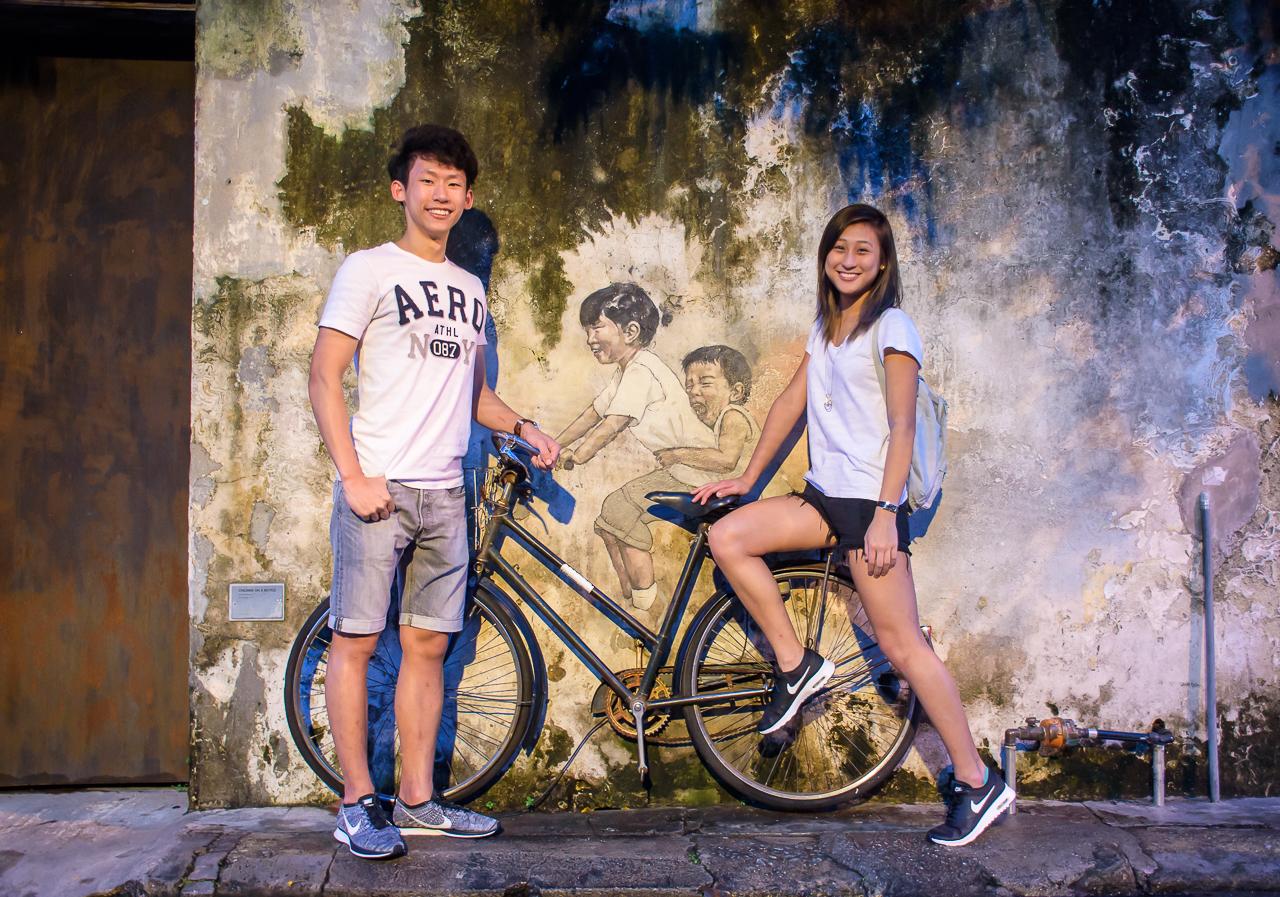street art, graffiti in georgetown penang malaysia