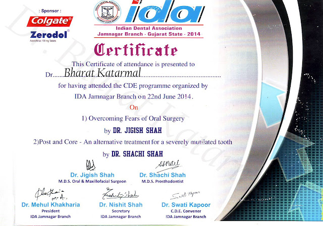 Overcoming Fear of Oral Surgery by Dr Jigish Shah and Post and Core by Dr. Sachi Shah