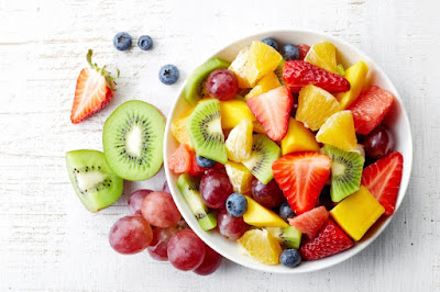 Bowl of Fresh Seasonal Fruits for Breakfast!