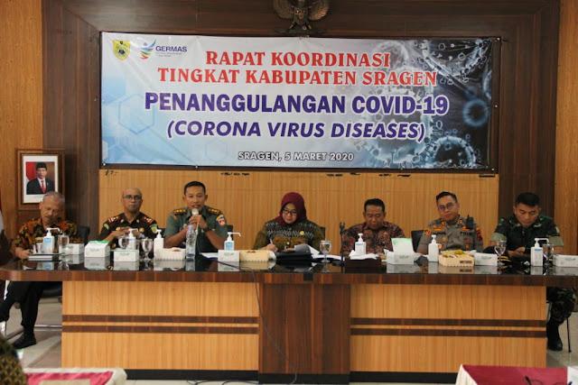 Kodim Sragen - Kesiapsiagaan Hadapi Corona Virus Diseases