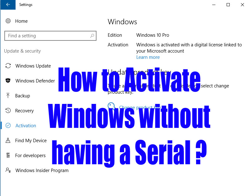 How to activate windows 10 without serial number fokri how to activate windows 10 without serial number ccuart Images