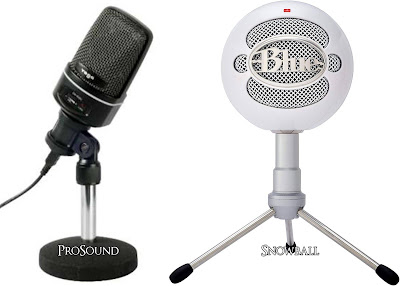 Prosound USB Microphone and Blue Snowball USB Microphone