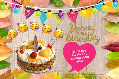 Happy birthday images for elder or big sister full HD images free download
