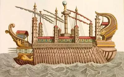 Ιταλία: Έρευνες για το χαμένο πολυτελές «πλοίο των οργίων» του Καλιγούλα στη λίμνη Νέμι