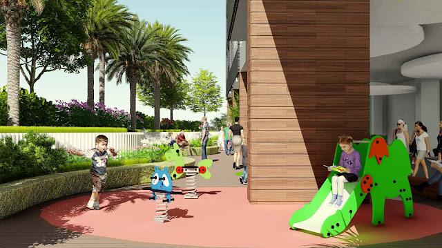 Sân chơi cho trẻ em giữa không gian xanh