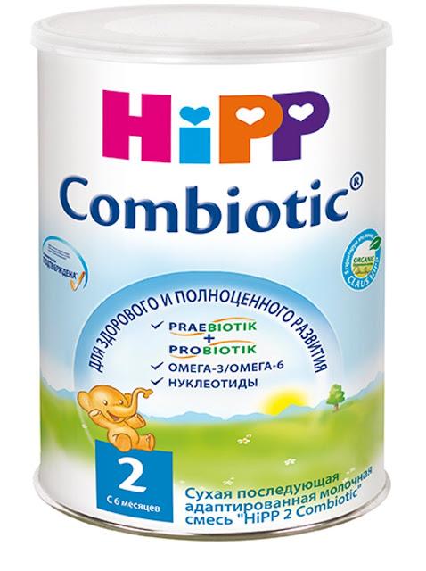 Sữa HiPP Combiotic Organic số 2 cho trẻ trên 6 tháng hộp 800g hàng Nga xách tay